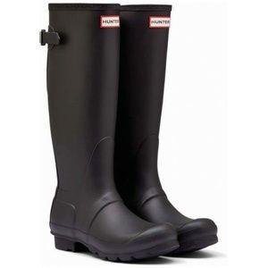 HUNTER Black Original Tour Tall Packable Boots 8